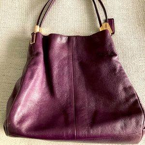 COACH Phoebe Madison Shoulder Bag Purple Pebbled